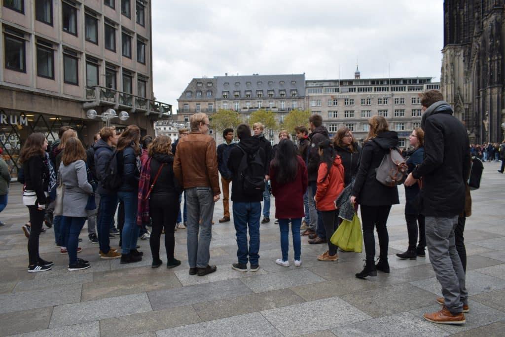 Leden van SIB-Utrecht in Keulen tijdens de Korte Buitenlandse Reis
