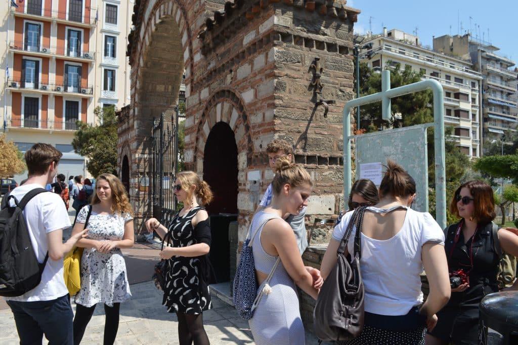 Leden van SIB-Utrecht in Thessaloniki tijdens de Korte Internationale Pleziertocht