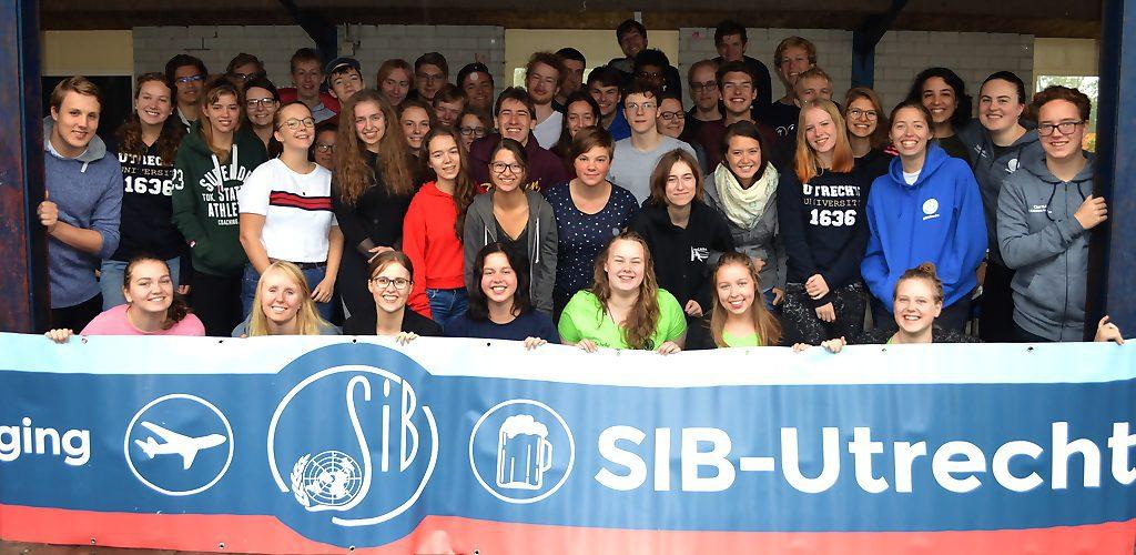 Introductiekamp van de Utrechtse studentenvereniging voor internationale betrekkingen in de Runsvoort